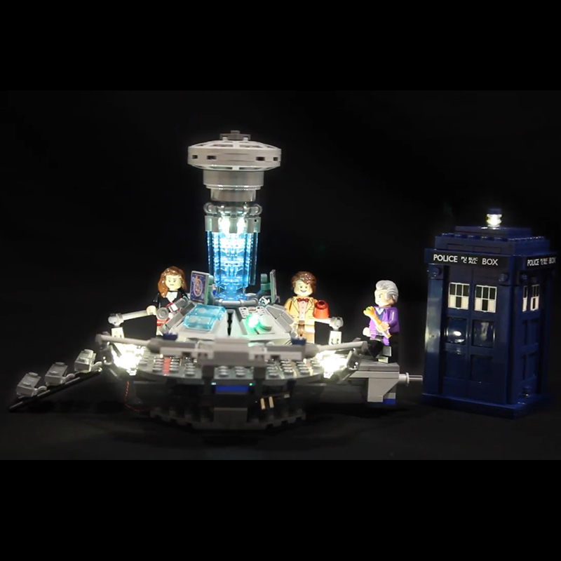 Led Light For Lego 21304 Building Bricks Blocks Creator City Dr Who Time-travel with the Doctor Toys ( light with Battery box) doctor who archives prisoners of time omnibus