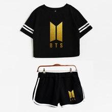 BTS Crop Top & Shorts Set (23 Models)