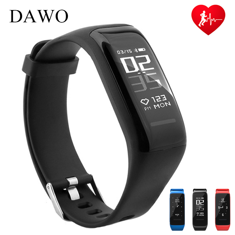 DAWO Smart Bracciale Fitness Activity Tracker Heart Rate Monitor di Dormire IP67 Impermeabile Intelligente Wristband Per Android IOS PK miband2