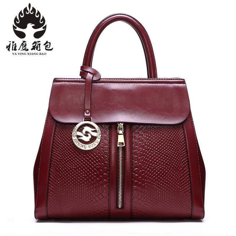 Brand Genuine Leather Bags For Women Luxury Handbags Women Bags Designer Cowhide Shoulder Bag Ladies 2018 New Sac ladies genuine leather handbag 2018 luxury handbags women bags designer new leather handbags smile bag shoulder bag