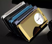 New Luxury Flip Chromed Metallic Cover For LG G4 G5 Mirror Case Plating Glitter Hard Protect Wallet Case For LG G5 G4