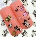 2015 Nuevo 5 Unids/lote 3D Nail Stickers Adhesivos De Uñas Consejos de Decoración Herramientas de Uñas Cat Corazón de La Mariposa Diseño beruty