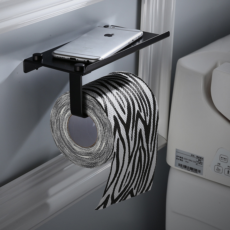 Paper-Holder Toilet-Roll WC Rack Storage-Shelf Wall-Mounted Bathroom Stainless-Steel