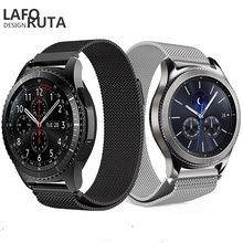 все цены на Laforuta Milanese Loop Strap For Gear S3 Frontier/Classic Watch Band 22mm 20mm 18mm Stainless Steel Mesh Samsung Galaxy 46mm онлайн