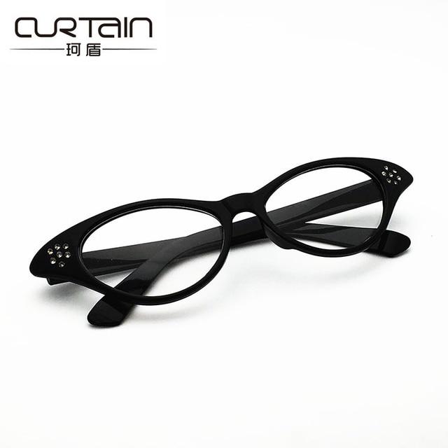 a4c49d540b Wholesale Vintage Women men Unisex glasses frame Cat eye shaped Party  dancing Glasses Diamonds optical glasses N111