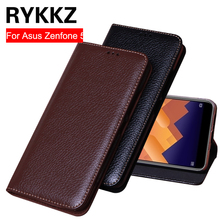 RYKKZ Luxury Leather Flip Cover For Asus Zenfone 5 ZE620KL 6.2'' Protective Mobile Phone Case Leather Cover For ZE620KL