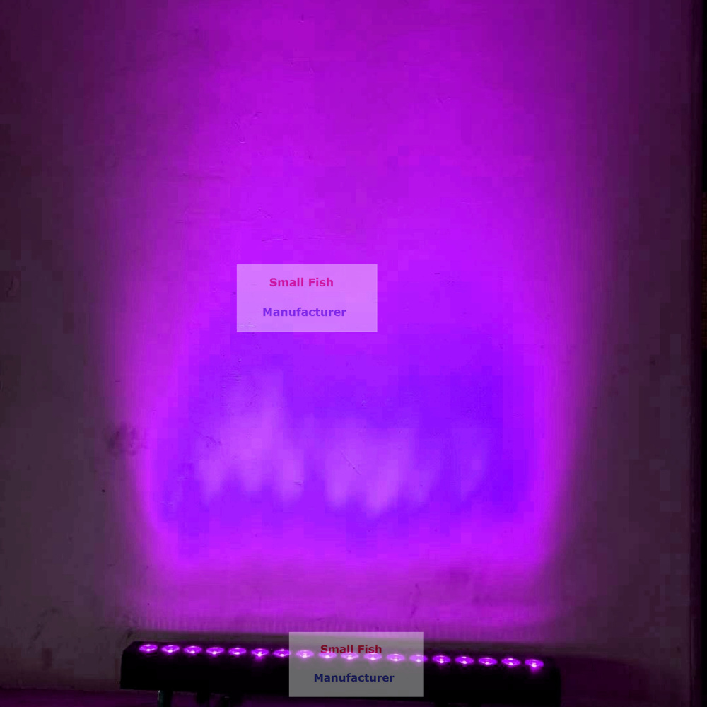 RGBWA-UV 6in1 led lavagem luzes de parede