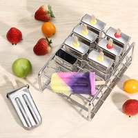 Stainless Steel DIY Ice Lolly Stick Maker Mold Ice Cream Moulds Reusable Tool E2S