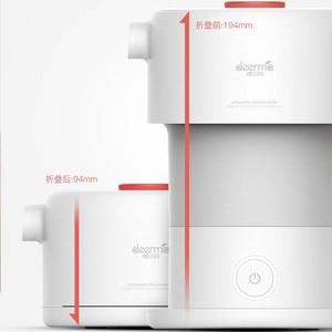 Image 2 - Портативный складной электрический чайник Youpin Deerma, 0,6Л, портативная электрическая колба для воды, автоматический чайник с защитой от отключения