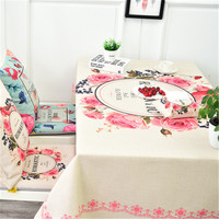 American pastoral cotton linen tablecloth dust cloth round table rectangular table cover coffee table cover towel tablecloth