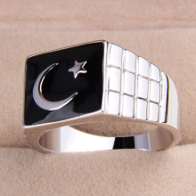 one piece fashion men's alloy us 8/8.5/9/9.5/10.5/11/11.25 size glaze turkey flag finger ring xydr188