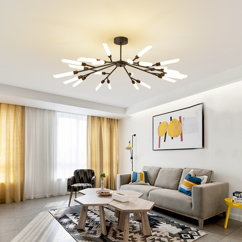 Generous Post-modern Led Luminaires Wooden Bedroom Suspended Lighting Loft Novelty Fixtures Nordic Hanging Lights Living Room Chandelier Chandeliers Ceiling Lights & Fans