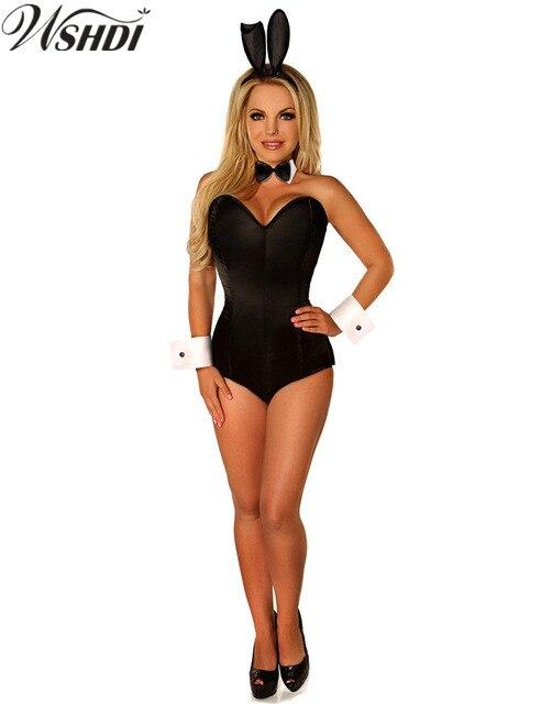Sincero Nero Sexy Bunny Costume Di Halloween Coniglio Corsetto Ragazza Pagliaccetto Del Vestito Discoteca Tuta Coniglio Coniglio Cosplay Tuta Sapore Aromatico