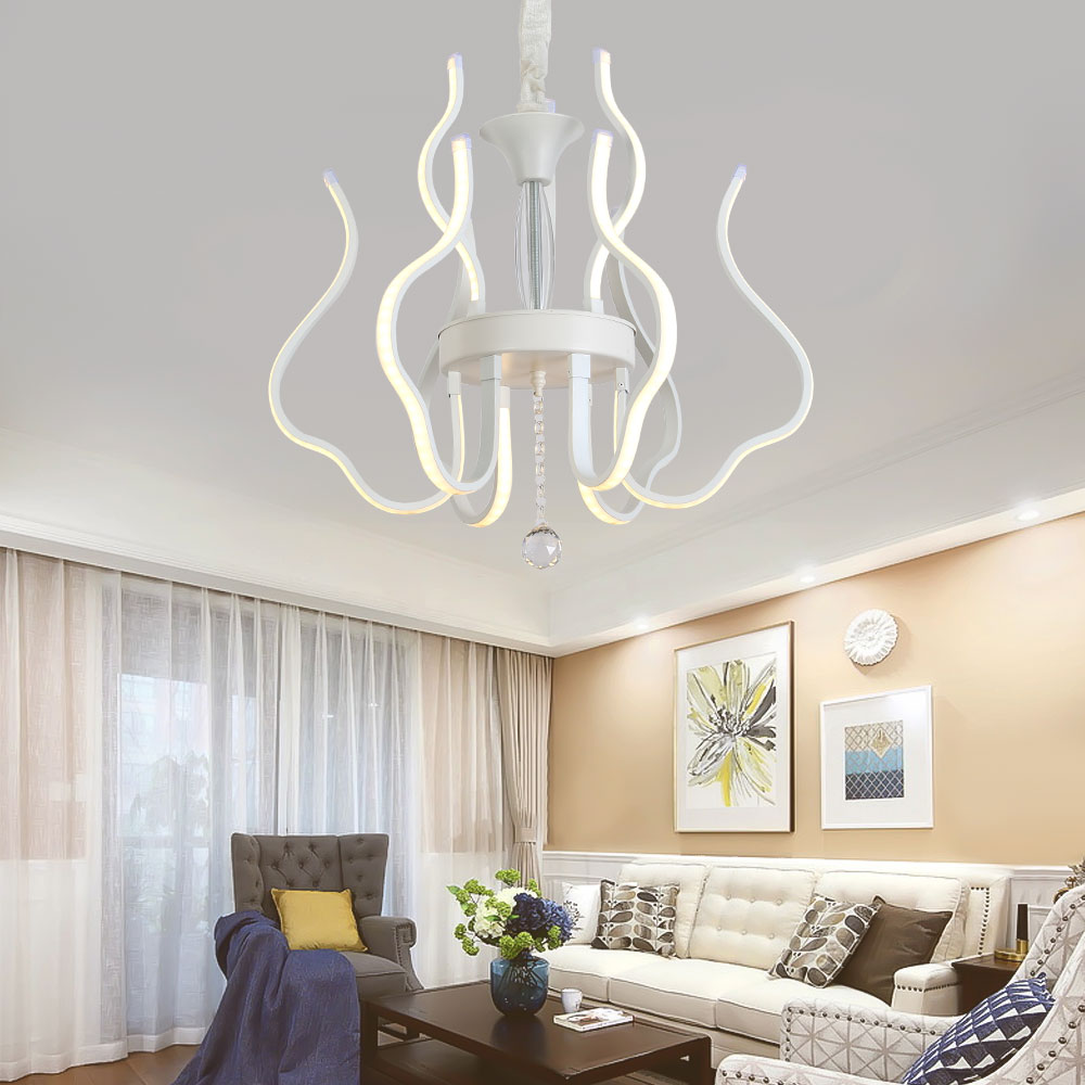 Modern Lustre Led Crystal Chandelier Lighting Ceiling Chandeliers ...