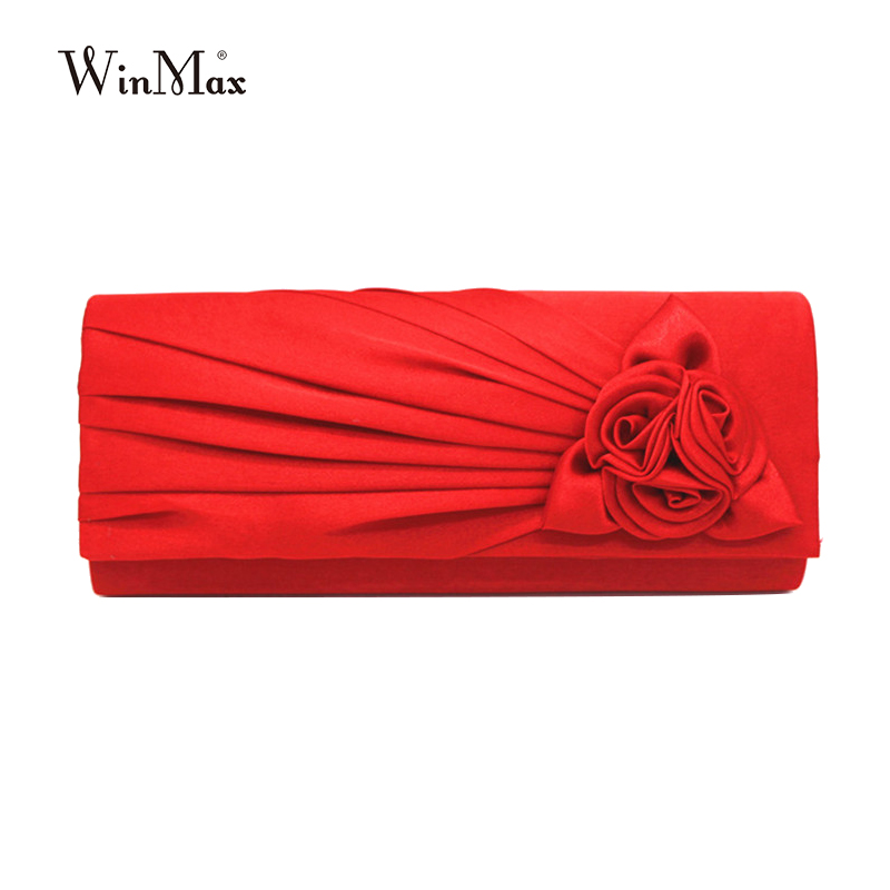 Ladies Cheap Hot Casual Clutch Purse Chain Handbags Women Evening party Bag Bride Wedding handbag silk rose clutch bolsas mujer big full crystal women evening bags cheap price hot selling women handbags bag