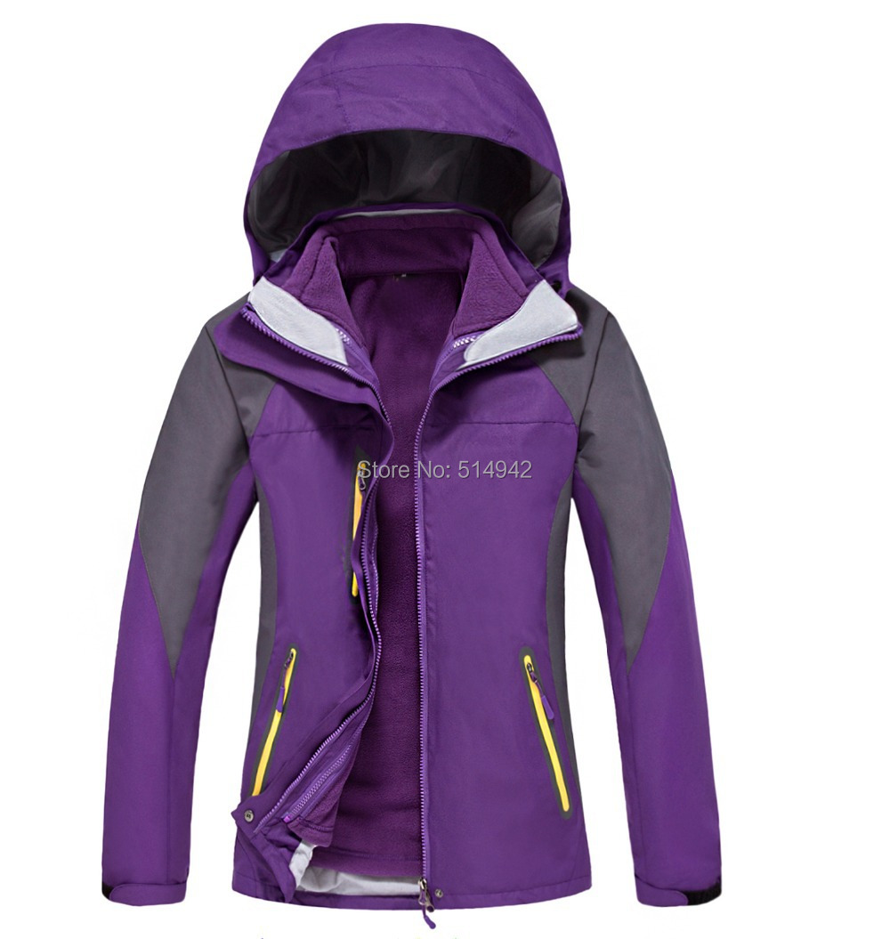 Dropshipping 2016 New arrival double layer hiking ski jacket waterproof windproof winter women coat jacket dhl ems 1pc original servo motor msma152a1g