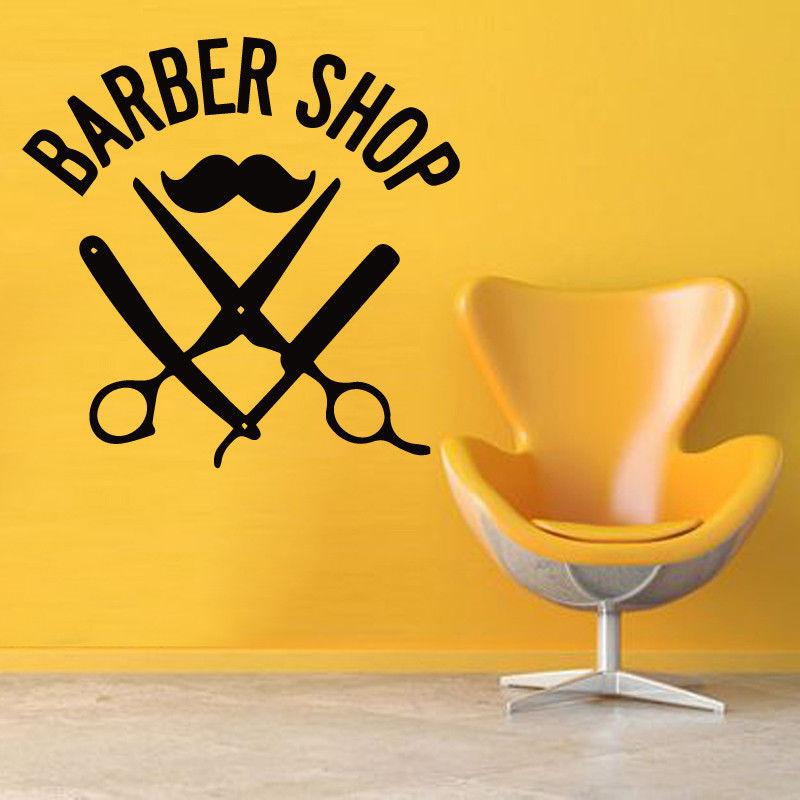 Hairdresser Mustache Vinyl Wall Sticker