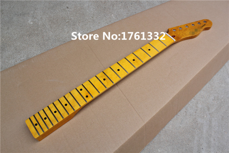 special price factory custom diy 21 frets vintage yellow electric guitar neck with maple neck. Black Bedroom Furniture Sets. Home Design Ideas