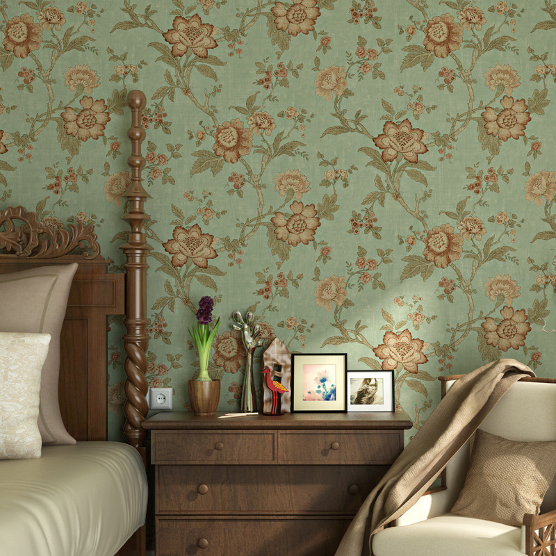 beibehang Village Retr Nostalgic Pastoral Wall covering Roll wall paper home decor Background Wallpaper For Living Room flooring non woven bubble butterfly wallpaper design modern pastoral flock 3d circle wall paper for living room background walls 10m roll