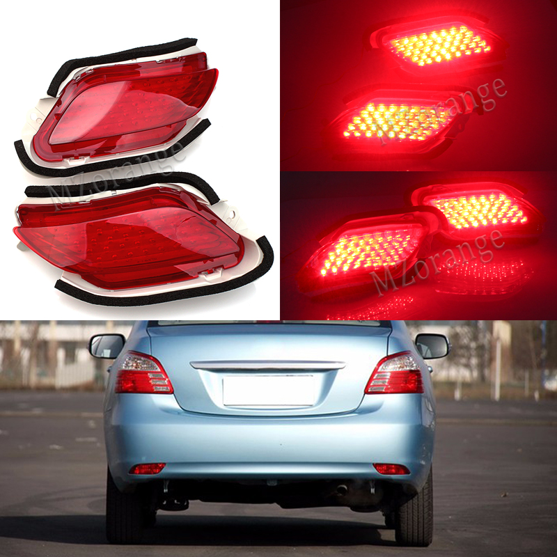 2PCS Car LED Rear Bumper Reflectors Light Brake Parking Warning tail Fog Lights For Toyota Yaris/Vios Sedan 2008-2011 2012 2013 kath jewitt i wonder why astronauts wear spacesuits sticker activity book