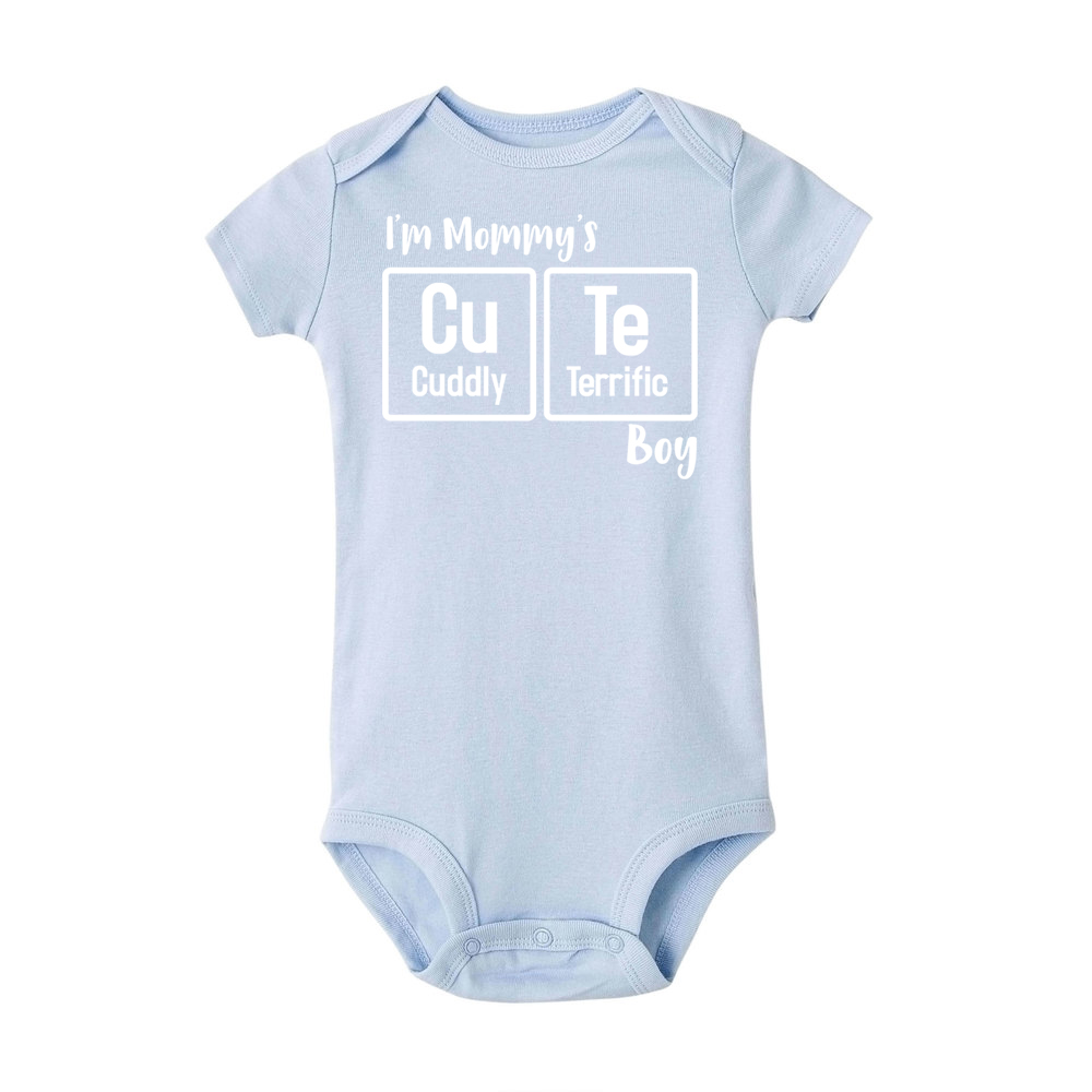 d2901a83e4b Detail Feedback Questions about I m Mommy s Cute Boy rompers Newborn Baby  Letter Onesie Infant Babies Funny Cotton romper One pieces Outfit Chemical  Element ...