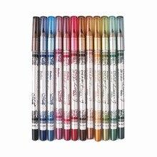 MENOW Brand 12PCS of  2 in 1 Hot Sale Eye Liner Lip Pencil Long-lasting Waterproof 12 Color Set Makeup P12005