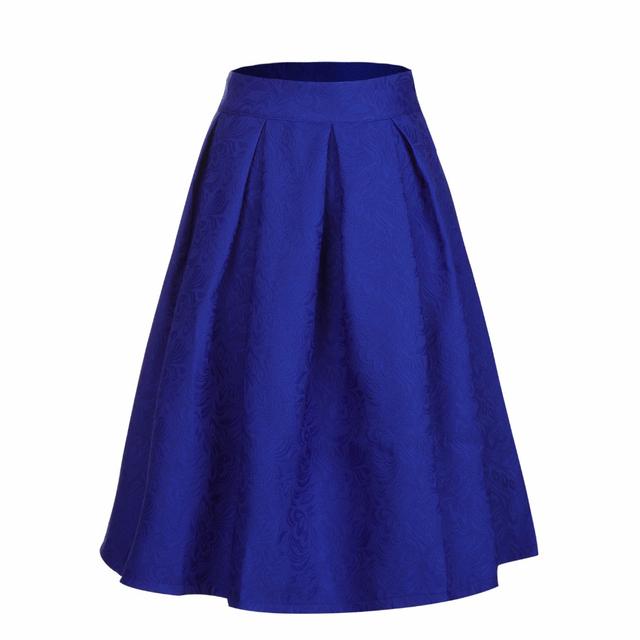 Women Midi Skirt longas casual stars skirt