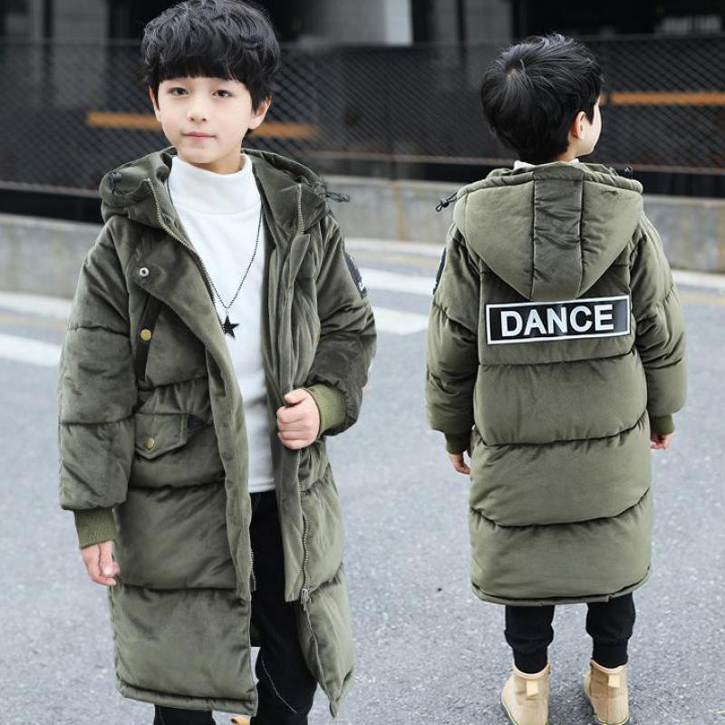 2018 New Arrival Children's Boy's Down Jacket Kids Hooded Winter Cotton Down Coats Boys Long Sleeve Zipper Casual Outerwear -30 laundry by shelli segal new red long sleeve zipper jacket 2 $149 dbfl
