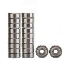 20 шт 624ZZ 4 мм x 13 мм x 5 мм углеродистая сталь экранированные Радиальные шариковые подшипники Глубокие шаровые подшипники