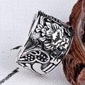 GZ 925 Серебряные Кольца для Мужчин Мальчик Ювелирные Изделия Romentic Цветка Vintage Регулируемый Размер S925 Solid Тайский Серебряное Кольцо для Женщин