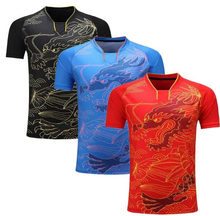 China dragon table tennis shirt Men/Women,badminton jerseys ping pong sports T-shirt,Dry-Cool Ma Long table tennis shirt clothes(China)