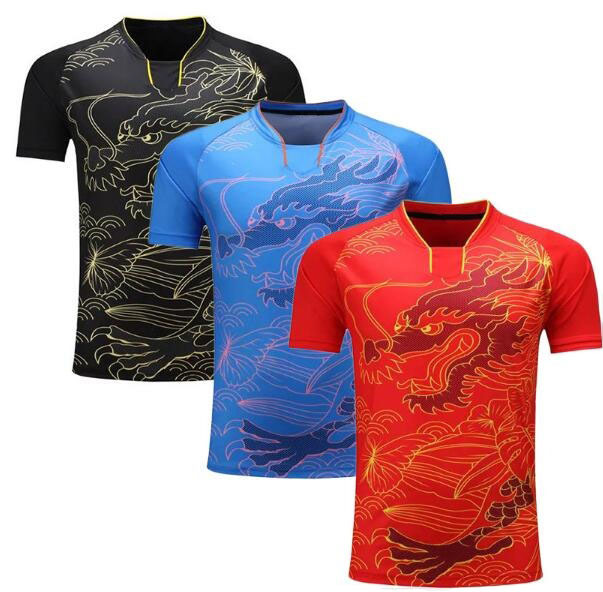 China dragon table tennis shirt Men/Women,badminton jerseys ping pong sports T-shirt,Dry-Cool Ma Long table tennis shirt clothes