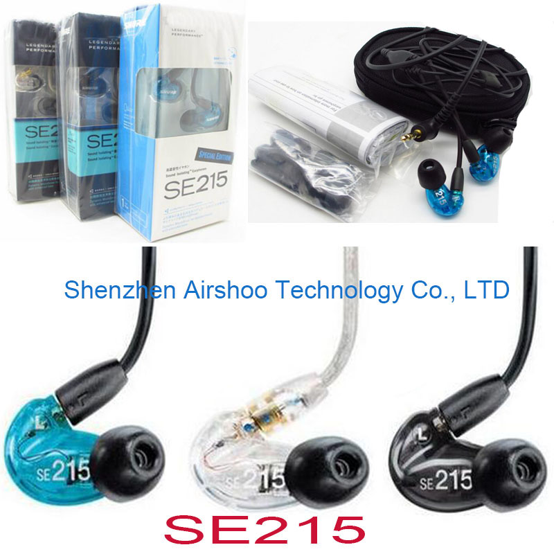 5units/Lot DHL shipping High Quality SE215 Earphones Hifi Headsets Noise Cancelling Headphones also have pb2.0 dhl shipping 5pcs lot high quality new