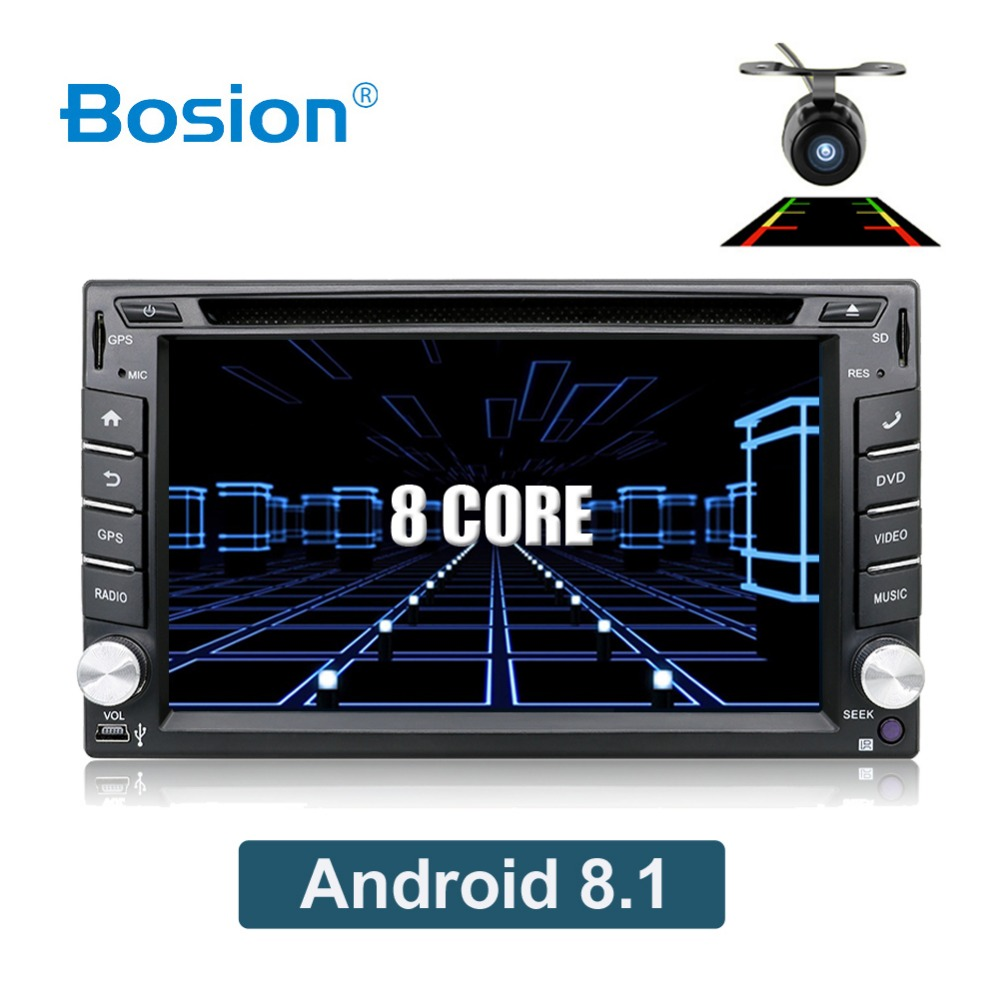 OCTA Core Android 8.1 2 Din car dvd Fit NISSAN QASHQAI Tiida universal Car Audio Stereo Radio GPS 3G WiFi BT CAR GPS NAVIGATION