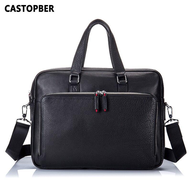 Men Briefcase Laptop Cow Leather Men Handbag Computer Bags Tote For Men Genuine Leather Crossbody Shoulder Bag Designer Quality