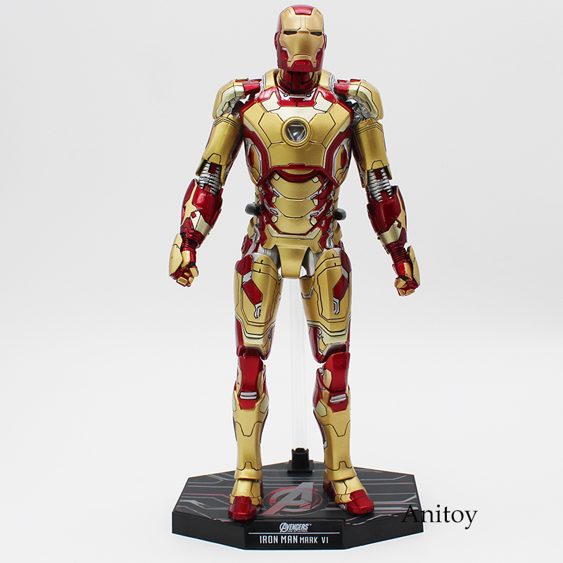 Super Hero HC Iron Man MK42 Mark XLII with LED Light 1/6th Scale Action Collectible Figure Model Toy 31cm KT4199 1