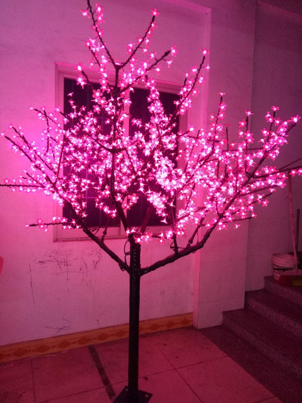 Free Ship LED Cherry Blossom Tree Light Christmas Holiday Party Wedding Home Tree Light 1152pcs LEDs 6.6ft Pink Waterproof