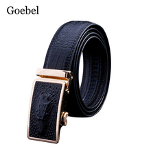 Goebel Designer Crocodil Belt Men Automatic Buckle PU Leather Luxury Man Belts Fashion Popular Black Belt For Male High Quality