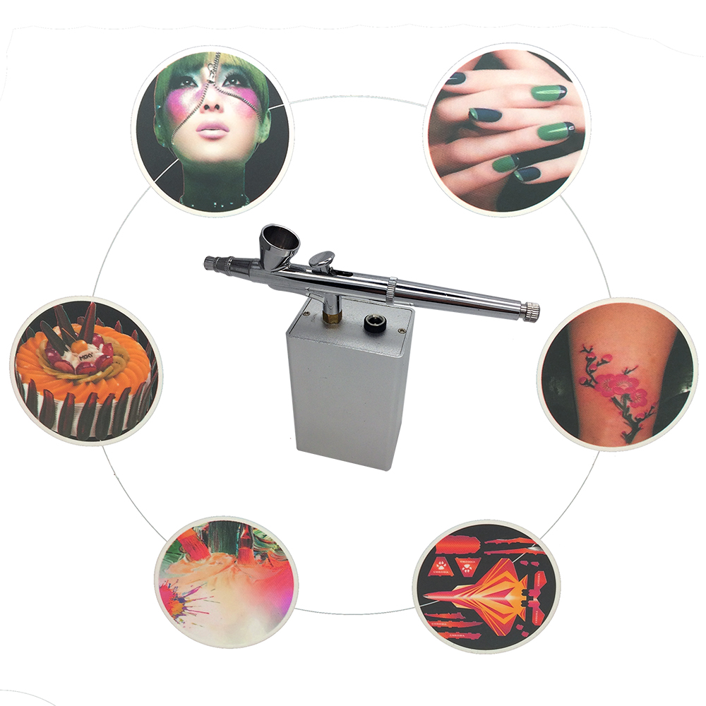 Integrated Rechargeable Airbrush Kit For Air Brush Nail Face Makeup Cake decoration and Model Painting Also Temporary Tattoo set mukhzeer mohamad shahimin and kang nan khor integrated waveguide for biosensor application