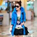 Дешевые зимнее пальто письмо с капюшоном зима вниз - хлопка-ватник женщина Большой размер длинный участок женщины зимнее пальто украина F827