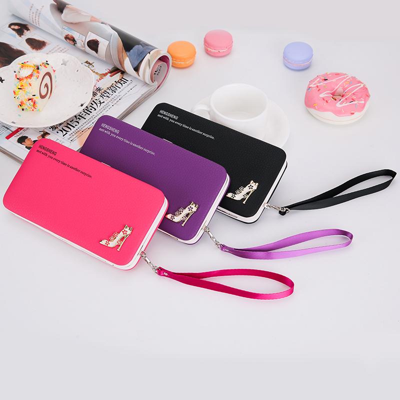 Prix pour Embrayage célèbre conception drôle sacs portefeuille populaire de femmes longue bourse sac à main titulaire de la carte téléphone sac creative carteira feminina