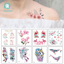 Flower Waterproof Temporary Tattoo Stickers for Women with blossom Unicorn Butterfly Design Body Fake Tatoo
