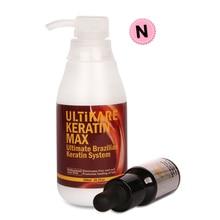 Small 10ml Moroccan Argan Oil with 300ml Brazilian Keratin Treatment At Home 5% Keratin Straighten Repair for Normal Curly Hair недорого