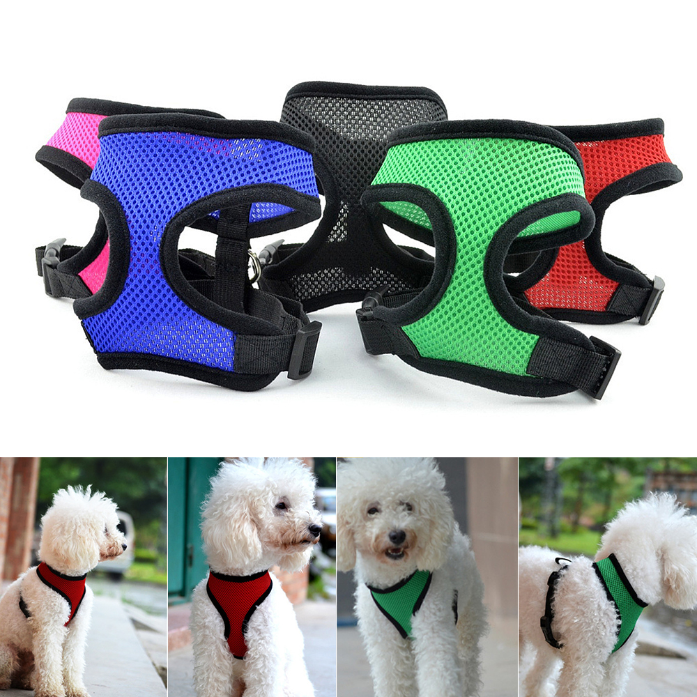 1 Pc Hond Borst Ademend Hond Harnas Nylon Mesh Vest Harnas Voor Honden Puppy Kraag Kat Riem Leash Verstelbare Zachte