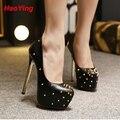 Mulheres bombas mulheres sapatos de plataforma de salto alto sapatos de casamento stiletto sexy sapatos de salto alto mulheres D347