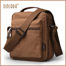 XINCADA Men Menssenger Bags shoulder bag for men sling Vintage Canvas Crossbody Sumka Ipad Bag Travel Male Sac School Books
