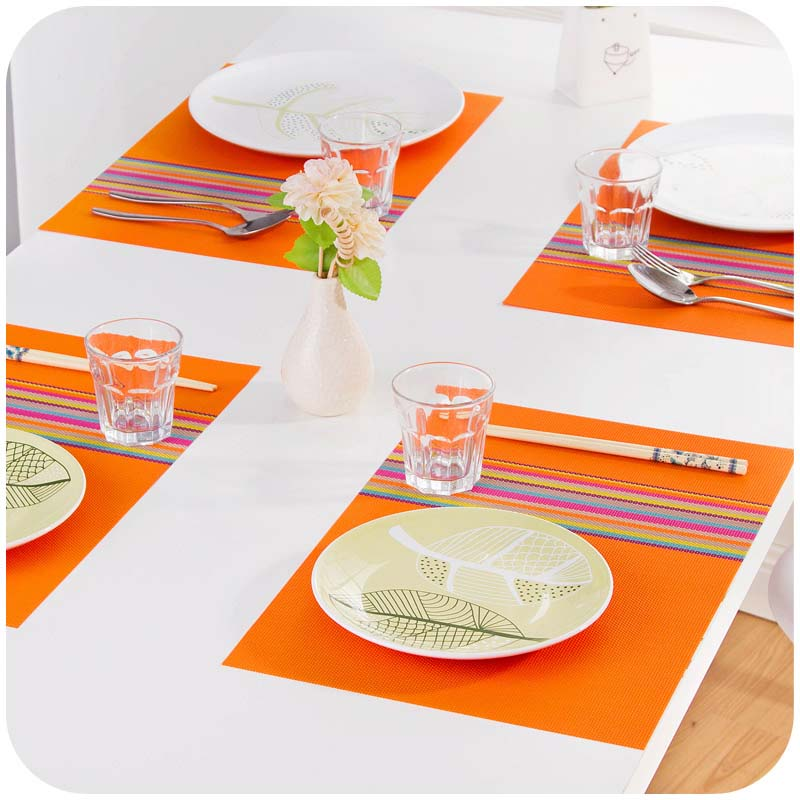 Table Mats Placemat Coffee Tea Place Mat Pvc Kitchen Table Mats Dinning Waterproof Table Cloth
