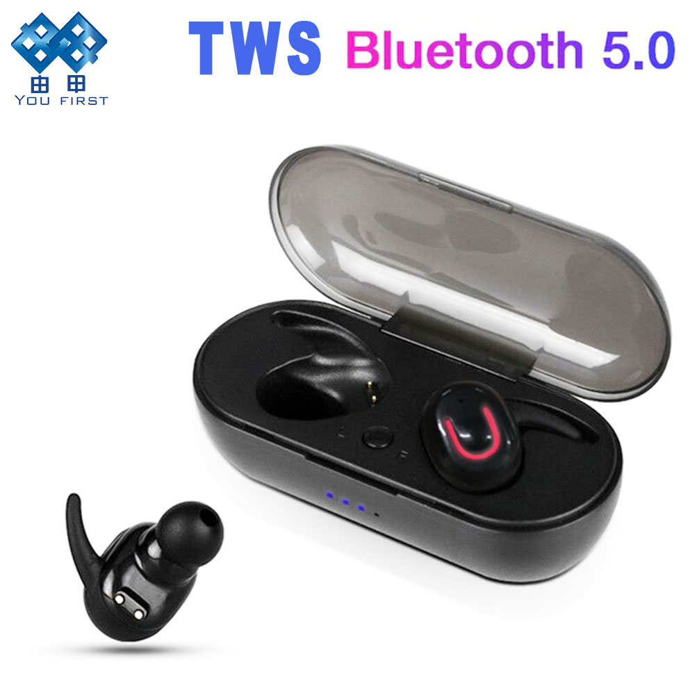 YOU FIRST Bluetooth Earphone Wireless Earbuds TWS Earphones Bluetooth 5.0 Stereo With Mic Charging Box For Smart Phone IPhone