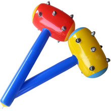 Oversize stuffed club Inflatable spike hammer blow bar hammers toys More color random