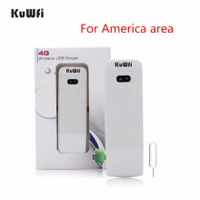 KuWfi Unlocked 4G Wifi Router USB Wireless WIFI Modem LTE USB Network Hotspot Dongle Support USA/CA/Mexico/Argentina/Chile/Peru unlocked huawei e8372 e8372h 153 150mbps 4g wifi usb modem lte wifi dongle support 10 wifi users black white color